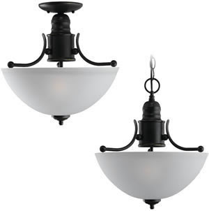 Sea Gull 77225-782 2 Light Evansville Convertible Fixture Heirloom Bronze