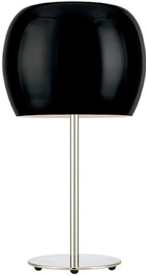 Alico DL6960-31-15 Newton Table Lamp Black Glass Shade / Chrome Finish