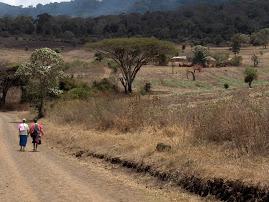 From Monduli Juu to the mountains.