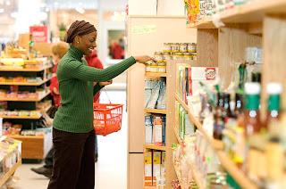 Woman shopping at store