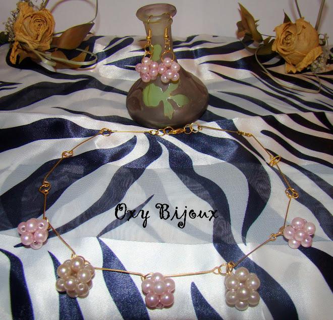 Set colier si cercei din perle - pret 15 RON (S4)-VANDUT