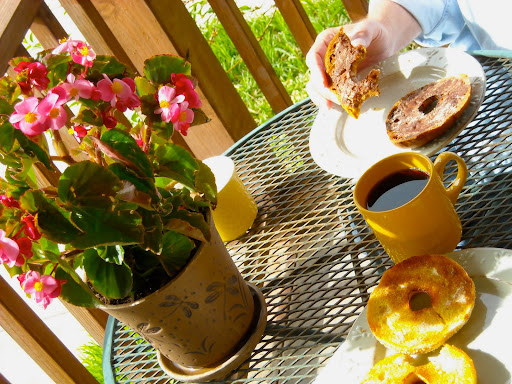 breakfast on porch