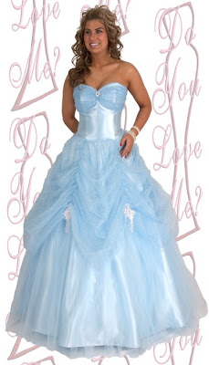 Blue Light Wedding Dress, Women Wedding Dress