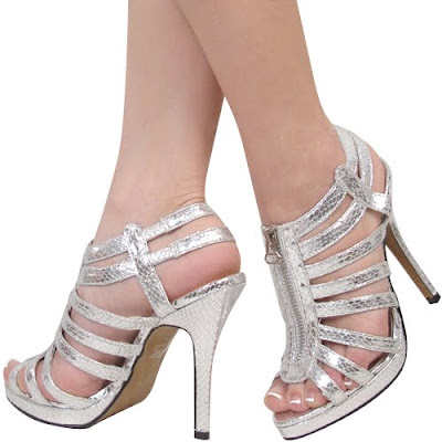 Women Ivory Bridal Shoes, Silver Bridal Shoes for Women