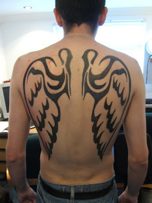 best tattoos for men on back. Back angel wing tattoos for men. Posted by noel at 7:35 PM