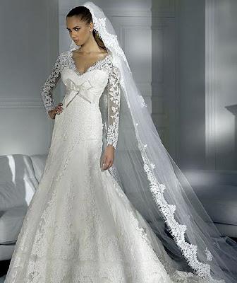Silver wedding dress