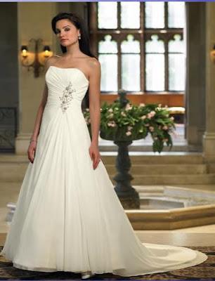 Trends strapless wedding dress