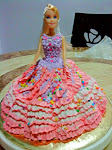 Barbie doll cake.