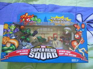 Marvel Super Hero Squad Spider-man saves the day Sandman Green Goblin Mary Jane Winter Soldier Crossbones Falcon Captain America