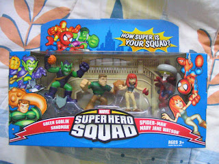 Marvel Super Hero Squad Spider-man Saves The Day Green Goblin Sandman Mary Jane