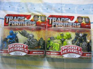 Transformers Robot Heroes Chromia Ratchet Megatron Barricade
