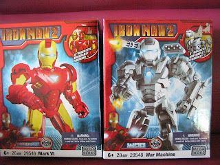 Marvel Mega Bloks Tony Stark Iron Man Avengers Warmachine Magnetic 6 inch