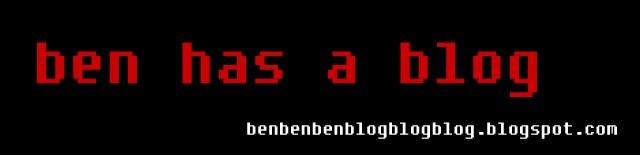 Ben has a Blog