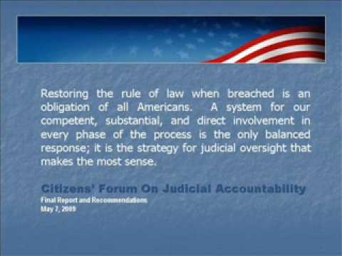 Citizens Forum On Judicial Accountability