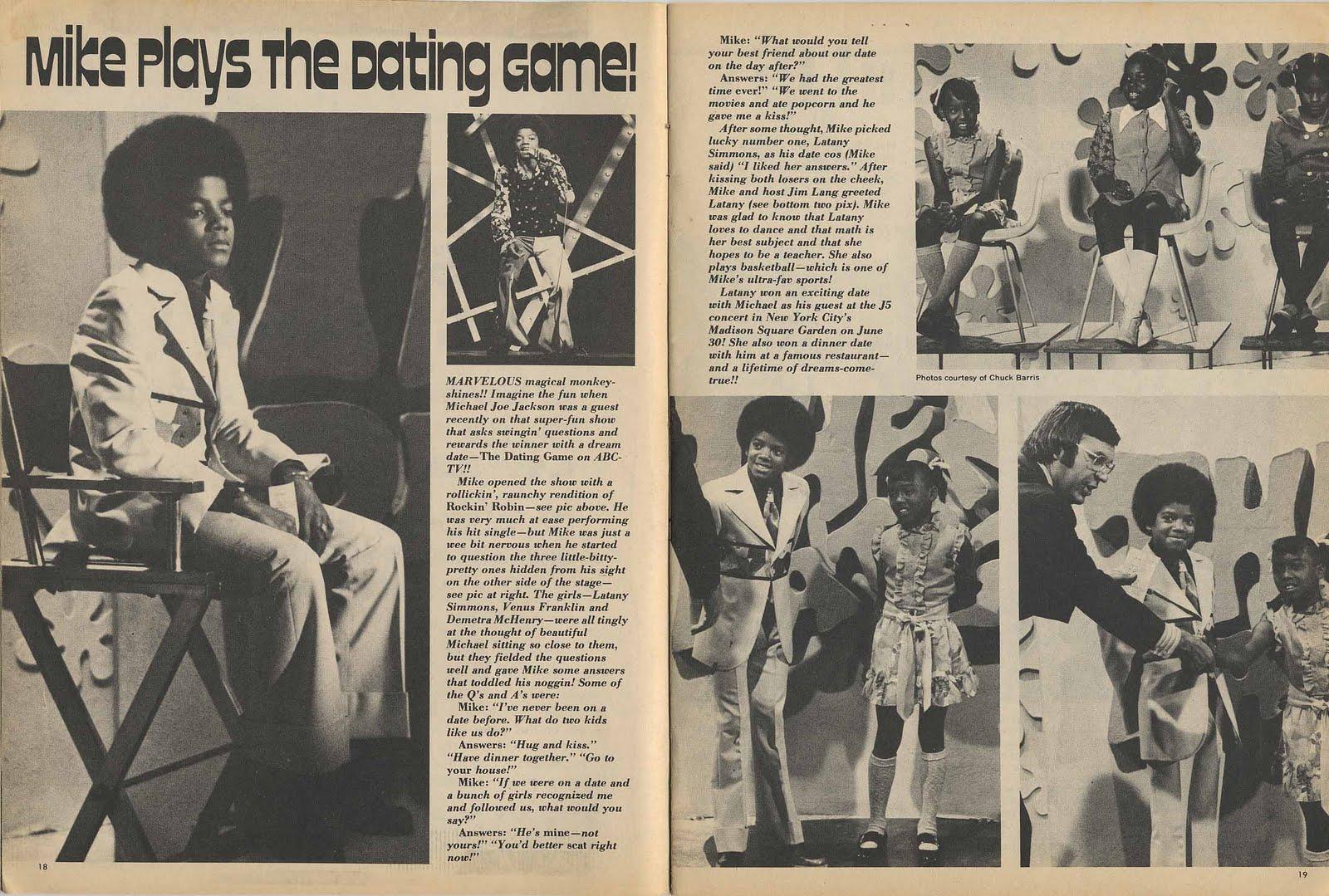 """Michael en  el show """"The Dating Game"""" 1972 Oct4"""