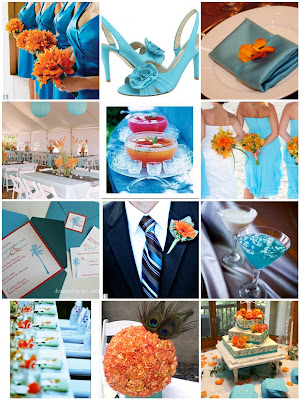 Wedding Colors Teal Orange