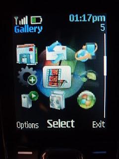 My customized Nokia 2323 theme