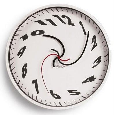 Relógio voltando ao passado