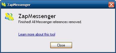 imagen finalización programa ZapMessenger