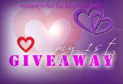 My 1st GiveAway - HaNya UnTuK KaMu