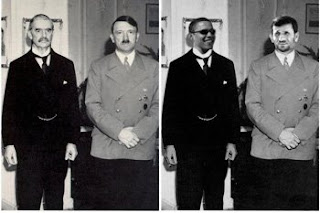 Peace in our time, Hitler, Chamberlain, Barak Obama, Ahmadinejad