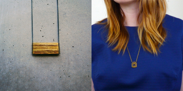 Brass Necklaces - Dot Over Dot and Noble Town Vintage