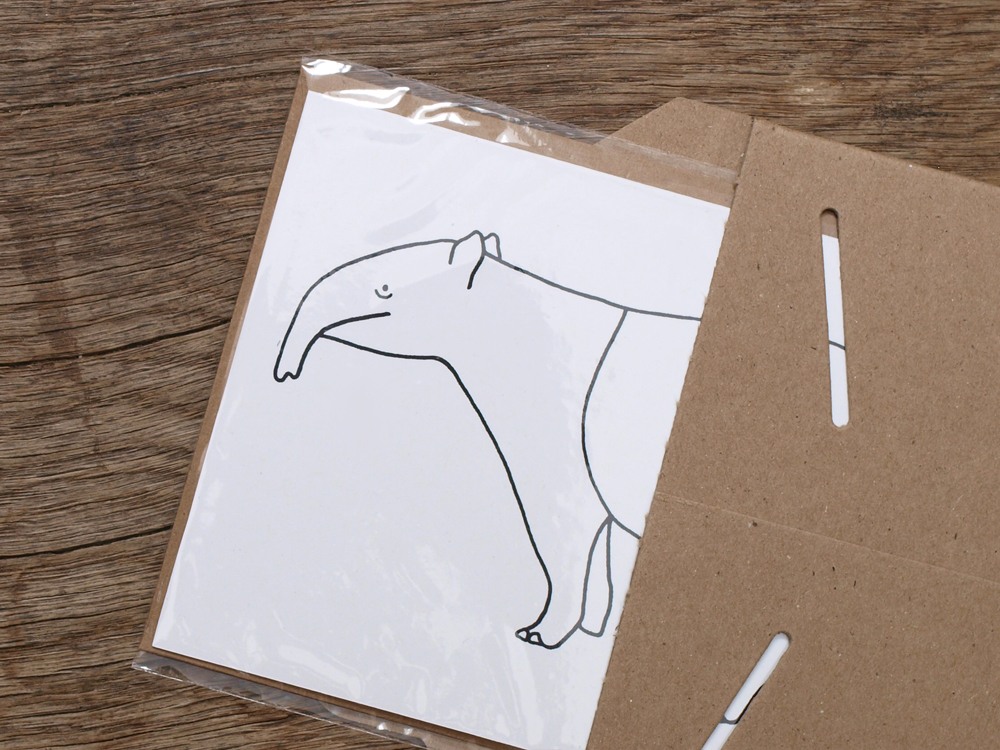 PAWLING | print studio - Long Nosed Animal Cards