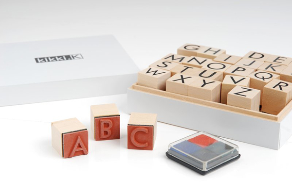 kikki.K - wooden alphabet stamp set