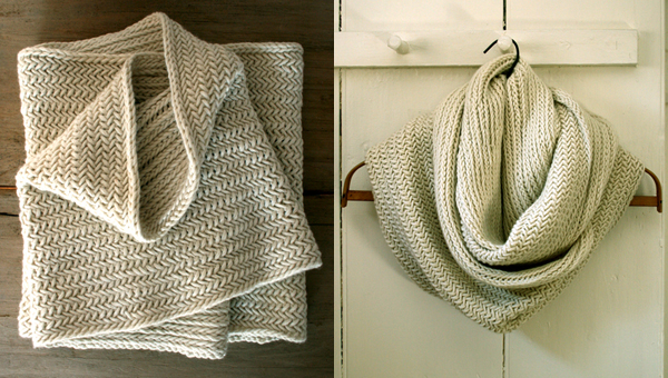 Purl Soho - Big Herringbone Cowl pattern