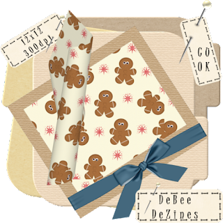 GingerBread Christmas papers by DeBee DeZines Gingerbread+paper