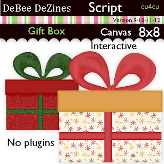 Gift Box Script Freebie by DeBee DeZines Gift+box+-+preview