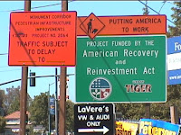 Project Signs on Monument Blvd