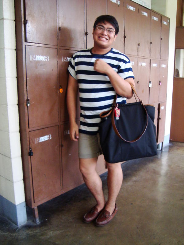 What to wear on a hot day. Makki Araneta I - AB PSY. Black and White stripe