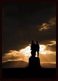 Sunset at the Commando Memorial Spean Bridge