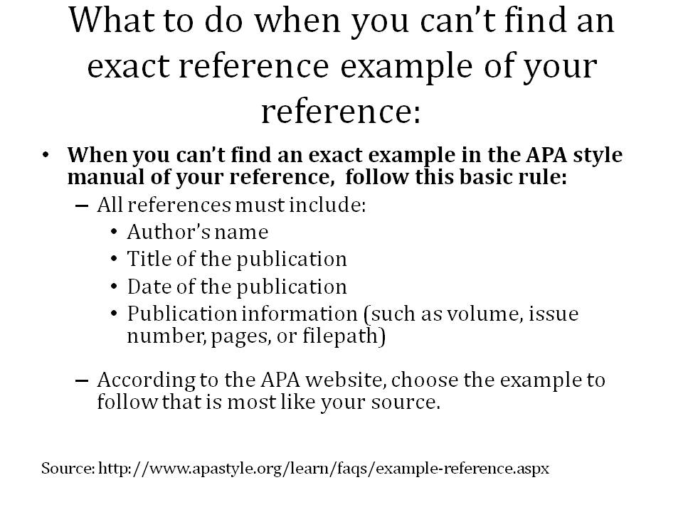 how do you cite a manual in apa format