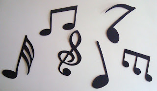 Silhueta De Casal Dan  Ando E Notas Musicais Em EVA