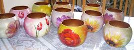 Vidros pintados (jarras)