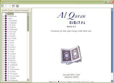 Al-Qur'an Digital Versi 2.1  Free Download Al Qur'an Digital Terbaru