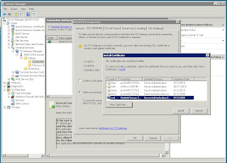 Screenshot of TS Gateway Configuration