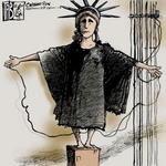 Abu Ghraib liberty cartoon