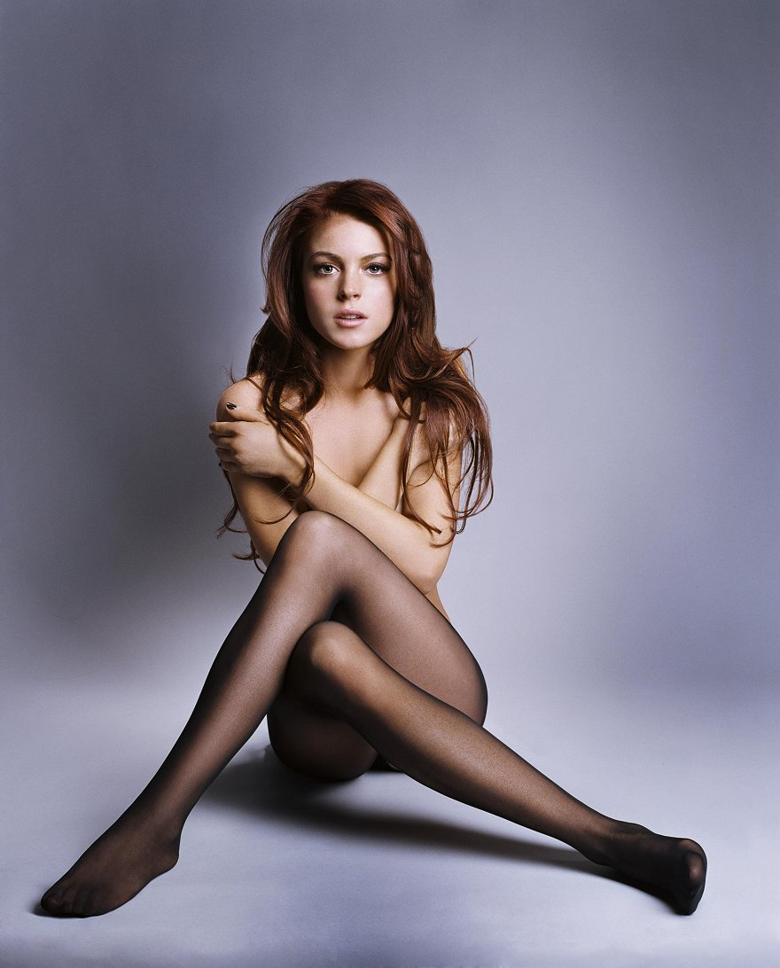 Chick lindsay lohan wearing pantyhose would