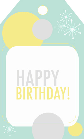 Smart image pertaining to free printable birthday tags