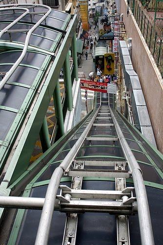 Paridoscopio las escaleras mec nicas de hong kong las m s for Escaleras largas