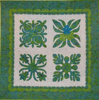 Quilt Inspiration Hawaiian Appliques Quilt Block Quilt