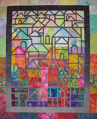 Daphne Singapore Picture on Hillside Houses   29 X 36 By Daphne Greig And Susan Purney Mark