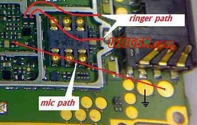 nokia 1200 1208 1209 mic Ringer Buzzer Ear speaker