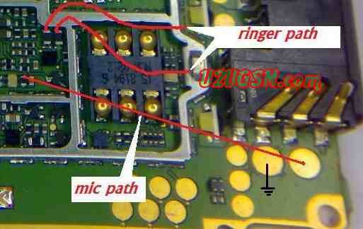 Cell Firmware  Nokia 1650 Mic Problem Mic Jumpers Mic