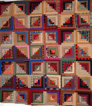 Civil War Quilts: 7 Log Cabin : log cabin quilt block history - Adamdwight.com