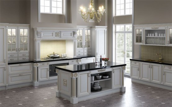 White kitchen cabinets design kitchen design best for Modern classic kitchen design ideas