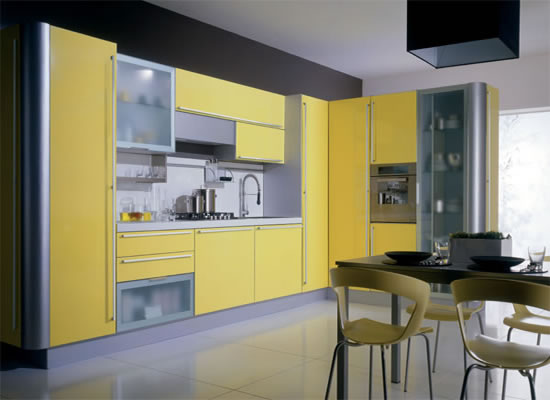 Cabinets for kitchen yellow kitchen cabinets Kitchen design yellow and white